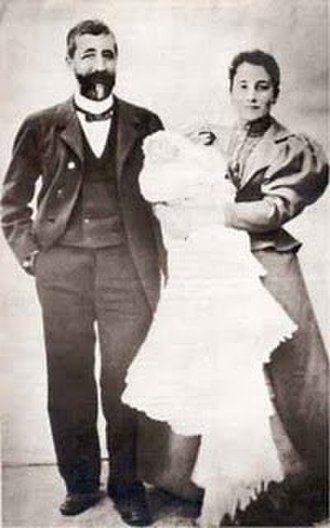 Francisco Franco - His parents with Francisco in arms, on the day of his baptism on December 17, 1892