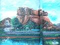 Painting of Bhadrakali Temple surroundings.JPG