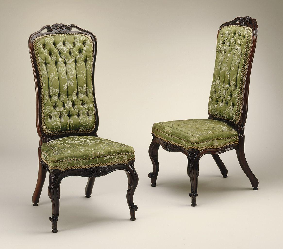 Rococo revival furniture - File Pair Of Rococo Revival Slipper Chairs Lacma M 57 27 2a B Jpg