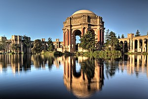 49-Mile Scenic Drive - The Palace of Fine Arts in the Marina District