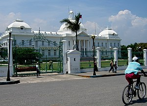 Presidential Palace in Port-au-Prince as seen ...