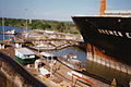 Panama Canal locks 1994 locomotive.jpg