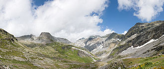 Panix Pass - View from the pass towards Glarus