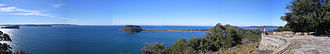 Ku-ring-gai Chase National Park - The view from West Head Lookout over to Barrenjoey.