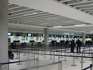 Paphos International Airport Check-in Hall