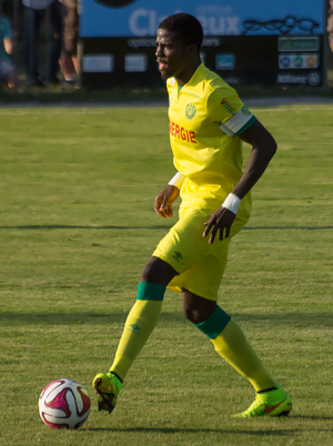Papy Djilobodji - Djilobodji playing for Nantes in 2014
