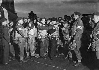16th (Parachute) Field Ambulance - Parachute Field Ambulance troops just before boarding their aircraft.