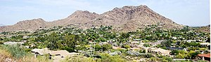 Paradise Valley, Arizona - Paradise Valley, looking east to Mummy Mt.