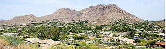 Paradise Valley, Arizona - Paradise Valley, looking east to Mummy Mountain