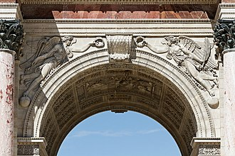 Spandrel - Spandrel figures, Arc de Triomphe du Carrousel, Paris