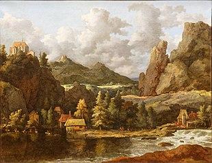 Paysage : rivière dans une vallée montagneuse