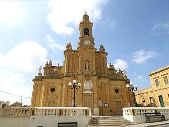 Fontana, Gozo - View of Fontana parish church