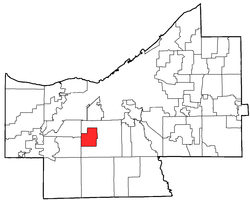 Location of Parma Heights in Cuyahoga County
