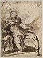 Parmigianino - Saint Roch un genou en terre, implorant le ciel, INV 6397, Verso.jpg