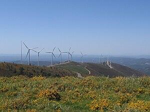Wind power in Portugal - Wind farm at Lousã