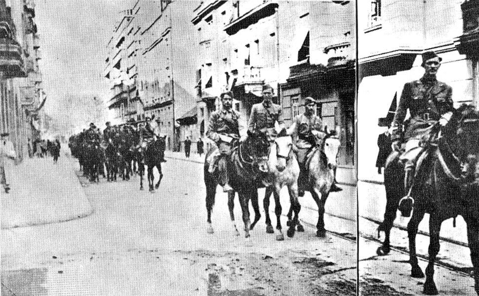 Partizani u oslobođenom Beogradu 1944