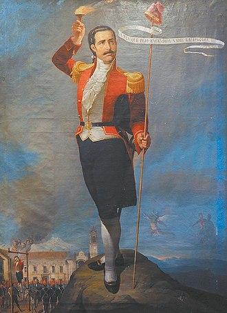 La Paz revolution - Pedro Murillo, leader of the revolution.