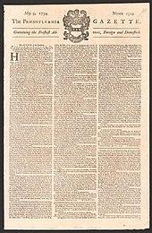 Pennsylvania Gazette Wikipedia
