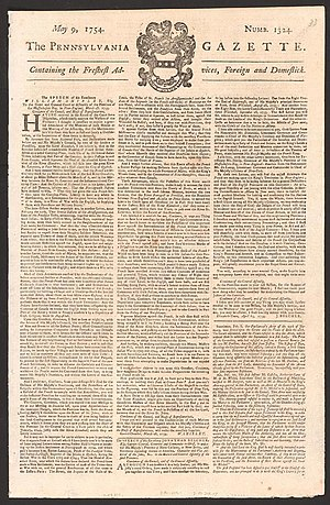 Pennsylvania Gazette - The Pennsylvania Gazette for May 9, 1754