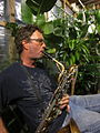 Performance Garden New Orleans Fringe Fest 2011 Sax Man.JPG