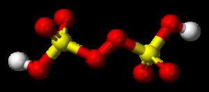 Peroxydisulfuric acid - Image: Peroxydisulfuric acid 3D balls