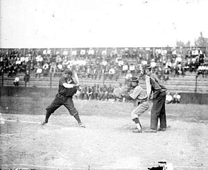 Pete Hill - Hill batting for the Leland Giants in 1909.