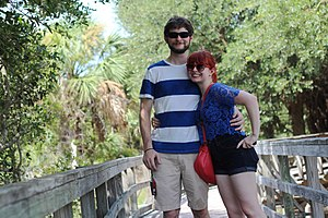 Casual - A couple wearing casual clothes during a trip to Cumberland Island, USA, 2015