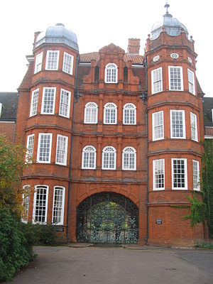 Newnham College, Cambridge - Pfeiffer Arch - the main entrance to the college before the Porters' Lodge moved to Sidgwick Avenue