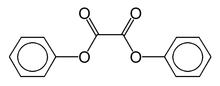 Skeletal formula of diphenyl oxalate