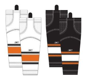 Hockey sock - The home (light-colored socks) and away (dark-colored socks) of the Philadelphia Flyers