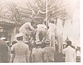 Phra Long of Ananda Mahidol outter layer assemble on the Royal Chariot with three poles by Concubine of the court.jpg