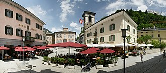 Poschiavo - Image: Piazza Communale Poschiavo 1