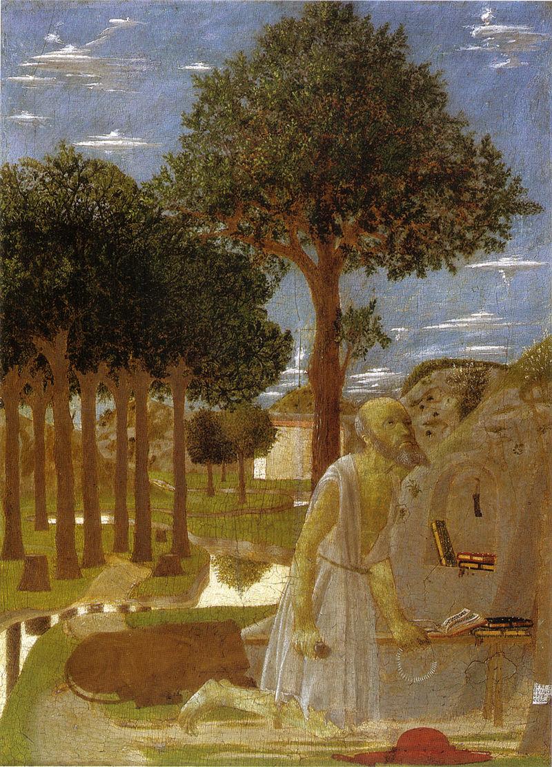 Piero, san girolamo penitente, 1450 gemaeldegalerie zu berlin.jpg
