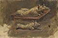Pigs. Study for During Fasting Time (Carl Gustaf Hellqvist) - Nationalmuseum - 20634.tif