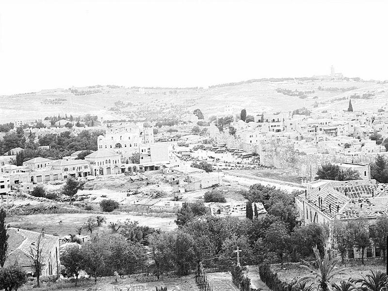 """שכונת אשל אברהם (בתי ניסן ב""""ק) ושער שכם 1950"""