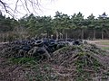 Pile of tyres by the bridleway, Ettington Park - geograph.org.uk - 1775844.jpg