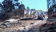 Explosion damage in San Bruno, California