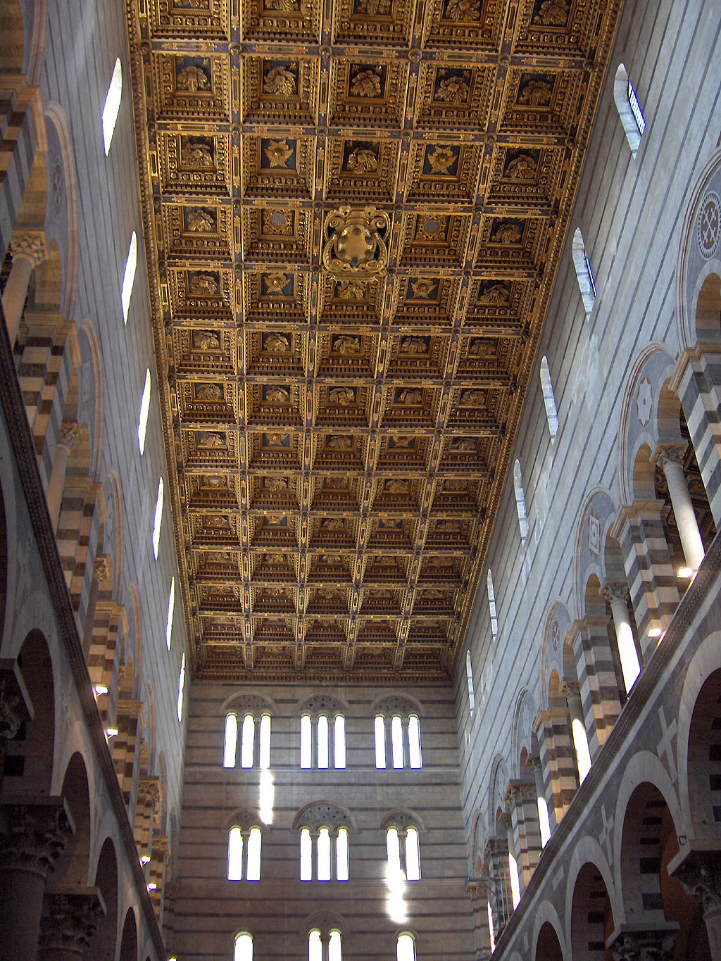 Coffer ceiling (with coat of arms of the Medici) of the cathedral, Pisa