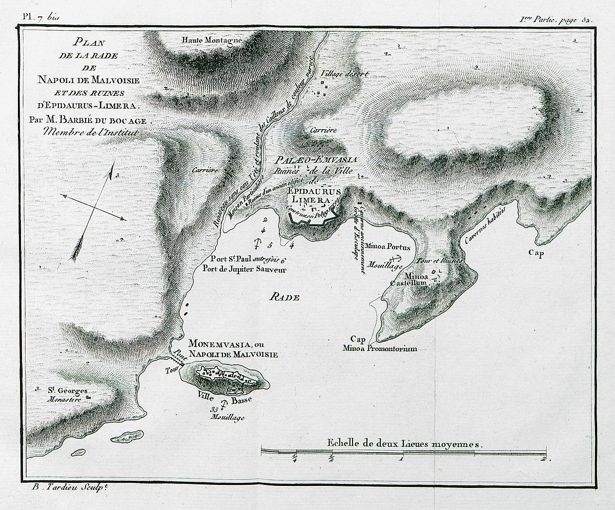 Maison En Ruine Dessin file:plan de la rade de napoli de malvoisie et des ruines d