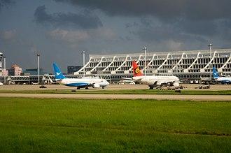 Xiamen Gaoqi International Airport - Image: Planes at Xiamen Gaoqi Airport