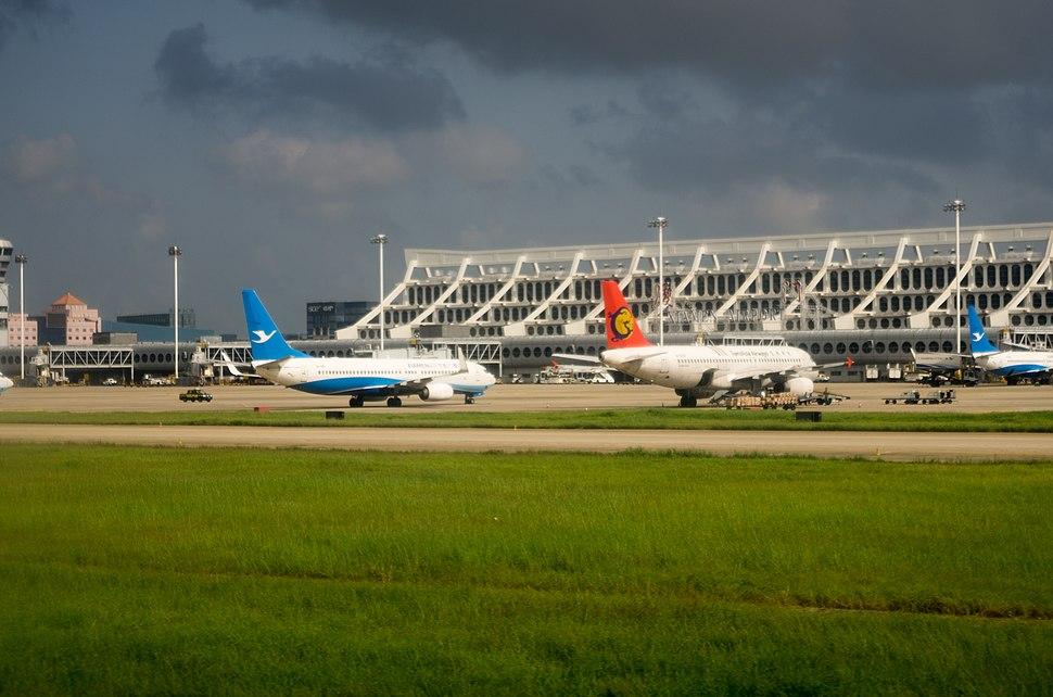 Planes at Xiamen Gaoqi Airport