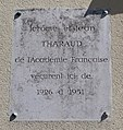 Plaque Jérôme Jean Tharaud, 93 rue Royale, Versailles.jpg
