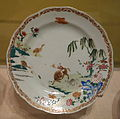 Plate, unidentified maker, China, c. 1740, porcelain - Albany Institute of History and Art - DSC07997.JPG