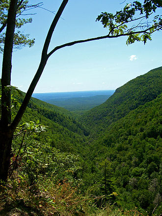 Catskill Mountains - Platte Clove, a break in the Catskill Escarpment created by glacial action