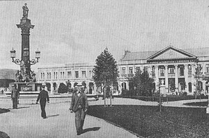 Concepción, Chile - Plaza de la Independencia, the Plaza de Armas of Concepción, in 1910