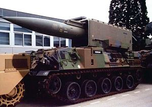 Force de dissuasion - A Pluton missile mobile launcher.