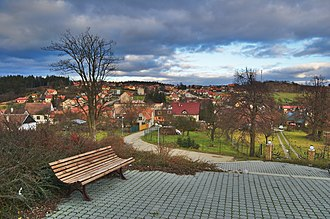 Šošůvka - Image: Pohled na obec od kaple svatého Václava a Anežky České, Šošůvka, okres Blansko
