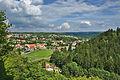 Pohled na východní část města z Vyhlídky pod hradem, Boskovice, okres Blansko.jpg