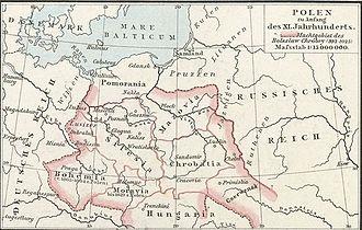 White Croatia - Image: Poland under Boleslaw Chrobry