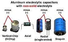 خازن الکترولیتی ویکی پدیا، دانشنامهٔ آزاد